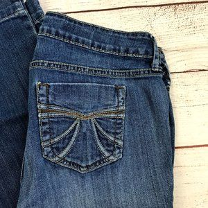 a.n.a. Petite Flare Leg Blue Denim Jeans